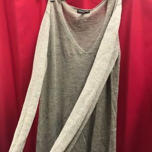 Eileen Fisher Italian Wool Long Lightweight V Neck